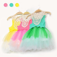 Children's Dresses/Baby Dresses/2014 new arrival summer girl dress sleeveless Hollow Tiered Veil Super Tutu Vest Dresses.