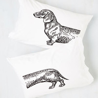 Quirky Hot Diggity Dog! Pillowcase Set by ModCloth