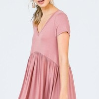 Easy Street Babydoll Maxi Dress