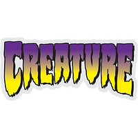 Creature Logo Clear Purple Decal 5x2.25