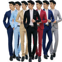 factory price men fashion office style Suits & Blazer men business casual blazers+pants Suits & Blazer 2pcs together