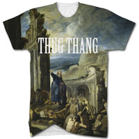 The vision of Ezekiel thug thang all over t shirt