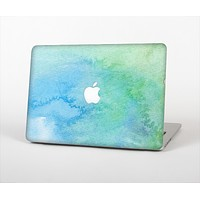 The Subtle Green & Blue Watercolor Skin Set for the Apple MacBook Air 13""