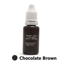 Professional Tattoo Ink Microblading Permanent Makeup Micro Pigment for Eyebrow Lip Eyeliner 1 2 oz 15ML Chocolate Brown 1 Piece