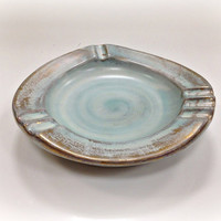 Stangl Pottery Ashtray Turquoise and Antique by vintage19something