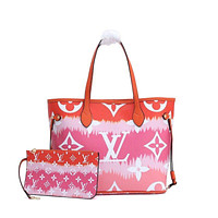 LV Louis Vuitton MONOGRAM ESCALE CANVAS NEVERFULL HANDBAG TOTE BAG