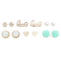 With Love From CA Mint Rose 6 Card Earrings at PacSun.com