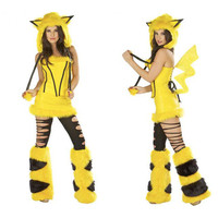 Fashion Pikachu Costume Plush Cartoon Temptations Halloween Party Joker Costume Cosplay Halloween Costumes For Women