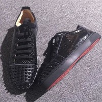Christian Louboutin CL Low Style #2058 Sneakers Fashion Shoes Online