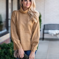 Fall Escape Turtleneck Sweater : Camel