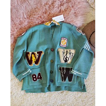 Varsity Sweater in Mint