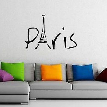 Wall Stickers Vinyl Decal Paris Eiffel Tower France Travel Cool Decor  Unique Gift z1574