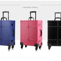 MakeUp Artist Trolley Case With Light and  wheels