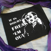 Sharon Needles - RPDR patch queer patch drag queen patch queer fashion Rupauls Drag race patch Freak them out, drag Gothic spooky patch