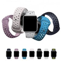 URVOI 2017 band for apple watch Nike+ series 1 2 lightweight Breathable silicone strap for iWatch new official colors sport band