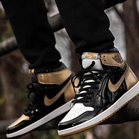 Bunchsun Air Jordan 1 tide brand personality wild high-top shoes