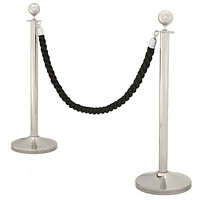 Stanchion Post with Black Cord (set of 2) | Eichholtz