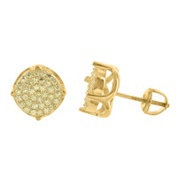 Mens Womens Round Gold Tone Earrings