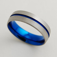 Mens Titanium wedding Band ,The Orion Band with Comfort Fit