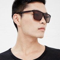 Totokaelo - Silver Lining Opticians Oxblood Gloss/ Brown Solid Calcium Sunglasses - $375.00