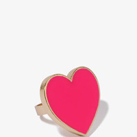 Lacquered Heart Ring | FOREVER 21 - 1019214164