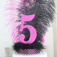 Feather 5th birthday Cake Topper