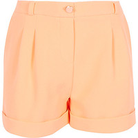 River Island Girls coral tailored shorts