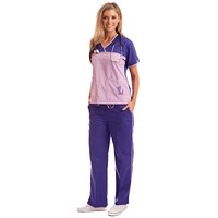 Women's Designer Purple Dog Lover's Scrubs Uniform