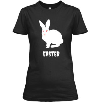 Evil Easter Bunny Rabbit Anti Holiday Pastel Goth Shirt Top Ladies Custom