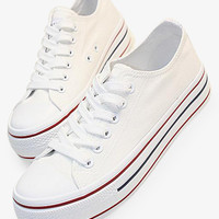 Classic Canvas Sneakers In White
