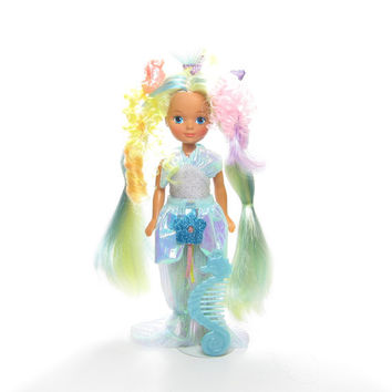 Maiden Goldenwaves Doll Vintage Lady Lovely Locks Enchanted Island Mermaid with Comb