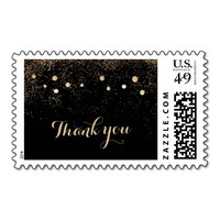 Chic Gold Confetti Dots Thank You