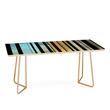 Madart Inc. Black Stripes In The Maze 2 Coffee Table