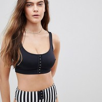 ASOS FULLER BUST Mix and Match 'The Crop' Bikini Top with Hook and Eye DD-G at asos.com