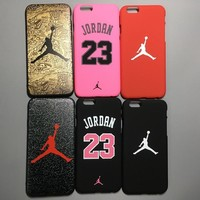 Jordan Fashion Luxury Ultra Slim Matte Case For iPhone 7 6 6S Jumpman Hard Back Cover