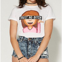 Trust No Bitch Emoji T shirt - Spencer's