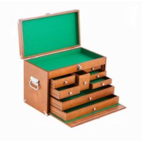 Trinity 21 in. 8-Drawer Wood Tool Box, Brown-TWM-3501 - The Home Depot