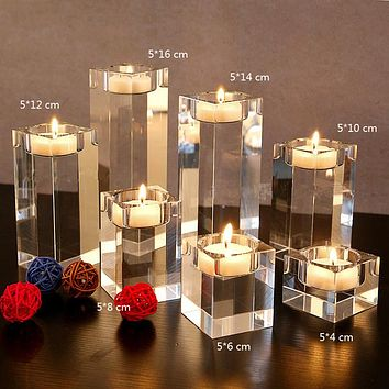 Solid Crystal Candlestick For Any Occassion 3Pcs Set