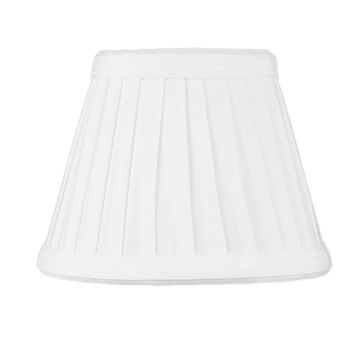 """5""""W x 4""""H Down White Pleated Clip-on Candelabra Pleat Lampshade"""