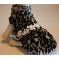 Leopard Dog jacket, Pet accessory, dog clothing , Wedding dog collar