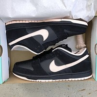 Nike SB Dunk Low Black Washed Coral low-top sports skateboard shoes