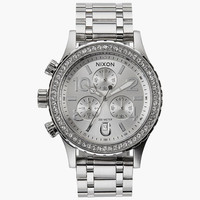 Nixon 38-20 Chrono Watch All Silver Crystal One Size For Men 25938814001