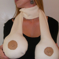 The ORIGINAL  Boob Scarf ...  Funny Novelty Gift for Him or Her