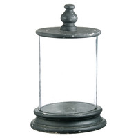 Glass Cylinder Display w/ Lid, Cloches & Domes