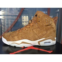 Nike Air Jordan 6 Retro Wheat Men Sneakers Women Sports Shoes 384664-705