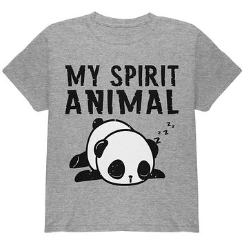 My Spirit Animal Tired Panda Cute Youth T Shirt
