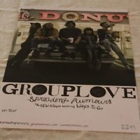 """Grouplove Spreading Rumours New poster 11"""" x 17"""" double sided"""