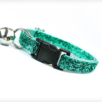 "Cat Collar - ""Enchanted"" -  Mint Sparkle"