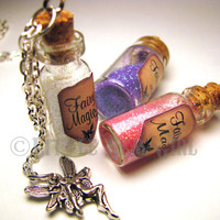 Fairy Magic  Glass Bottle Cork Necklace  Many by LittleGemGirl