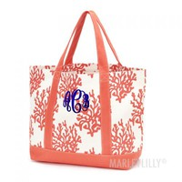 Monogrammed Reef Boat Tote   Marleylilly